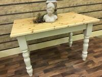 4FT SOLID PINE FARMHOUSE TABLE CAN DELIVER