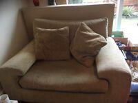 Small mustard fabric sofasmall