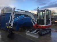 Digger excavator hire micro digger to 3 ton, dumper , tipper