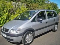 VAUXHALL ZAFIRA 7 SEATER **** £995 ****LONG MOT TIMING BELT RENEWED OUT STANDING CONDITION 1 OWNER