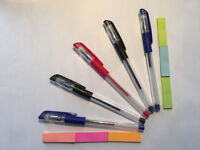 Professional Stationery Set Containing 5 Gel Pens and 6 Sticky Pads
