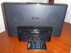 SONY AUDIO SYSTEM WITH IPOD DOCKING