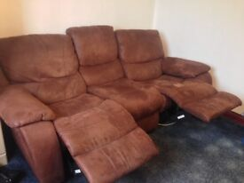Brown suede sofa for sale