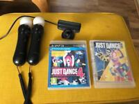 PlayStation Move for PS3 with 2 Just Dance Games