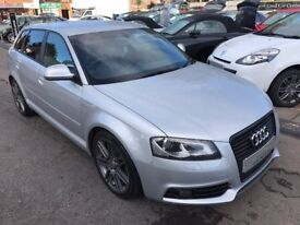 2010/10 AUDI A3 2.0 TDI BLACK EDITION SPORTBACK 5DR SILVER STUNNING LOOKS,GREAT SPEC DRIVES WELL,