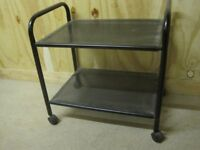 Black metal TV stand / small table