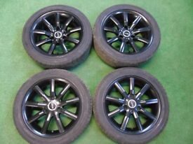"""SMART FORTWO 15"""" inch ALLOY WHEELS WITH CONTINENTAL TYRES"""