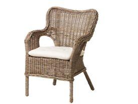 Natural fibre armchair