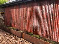 Rusty corrugated tin