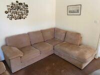 Corner sofa + 2 arm chairs mink Harveys