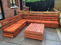 Hand make furniture from wood palettes