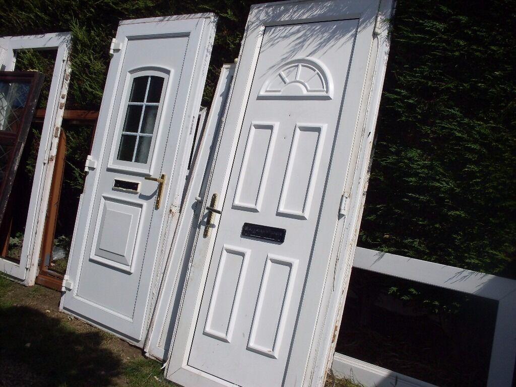 Upvc full panneld door a couple of small knocks in for Reclaimed upvc doors