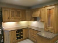 Solid Character Oak display kitchen