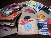"""53 x 1950's / 1960's 45rpm 7"""" VINYL HIT RECORDS FOR JUKEBOX OR DANSETTE - POP"""