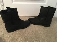 French Connection leather black ankle boots size 6