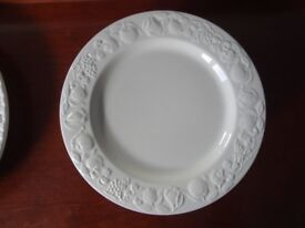6 X DINNER PLATES BY ITALIAN FRANCO GIORGI ALSO MEAT PLATE AND NIBBLES DISH