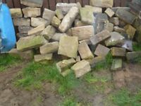 Yorkshire walling stone reclaimed coursed.