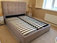 King size fabric bed frame