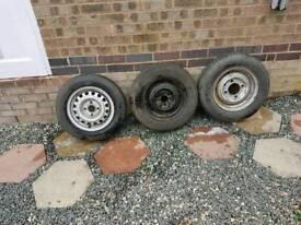 3 good tread spare tyres