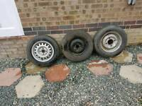3 good tread spare tyres