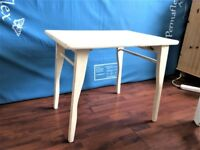 NICE SMALL FOLDING TABLE, SOLID OAK WOOD SHABBY CHIC