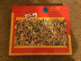 The Simpsons double sided jigsaw puzzle