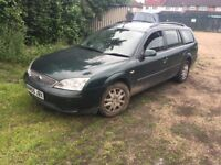 Ford Mondeo LX TDCI 130 1998cc Turbo Diesel 6 speed manual 5 door estate 05 Plate 2005 Green