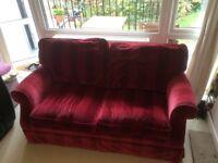 Red Velvet Sofa Bed