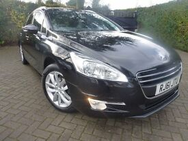 2012 PEUGEOT 508 ACTIVE SW HDI BLACK 1 P/OWNER CHEAP TAX £30 DIESEL ESTATE