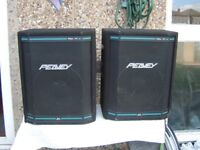 Peavey Hisys Speakers with stands