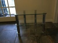 Glass TV Stand, New condition 50cmH x 62cmW x 42cm D