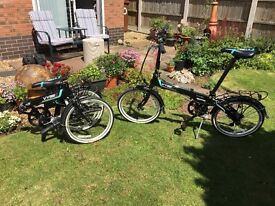 Dahon Vybe 7 speed folding bicycles. 2 for sale.