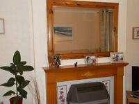 Lovely large wooden wall mirror - suitable for lounge/large hall area