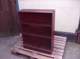 Book shelf dark wood three shelves delivery available £7