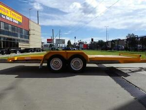 UNIQUE TRAILERS , CAR TRAILERS BEAVER TAIL , FLAT TOP. Prestons Liverpool Area Preview