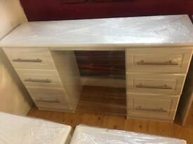 White double sided desk