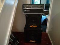 Ampeg SVT450H Bass Amp & Markbass STD 151 HR BLK & Markbass New York 151 Black