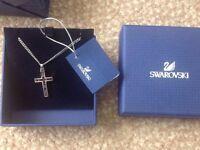 Brand New in Box - Swarovski Midnight Cross Pendant