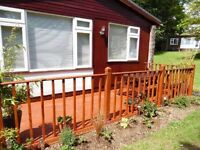 Late breaks holiday in cornwall devon border 2 bed hol chalet sleeps 5 allows dogs .