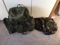 Webtex Olive green army bergen / rucksack - 120 litres