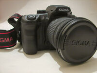 like new DSLR SIGMA SD14 with Sigma DC 17-70mm 2.8-4.5, 2 batteries, M42 adapter, easy infrared mod
