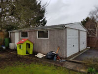 Beautiful double garage for sale