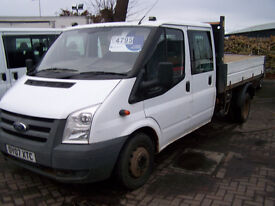 2007 07 FORD TRANSIT CREWCAB TIPPER RECENT MOT TRADE SALE £3000
