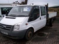 2007 07 FORD TRANSIT CREWCAB TIPPER RECENT MOT TRADE SALE £3400