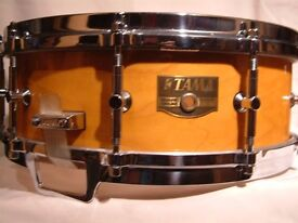"Tama AW645 Artwood Pat 30 Solid Maple snare drum 14 x 5 1/2"" - Japan - 80s - Gladstone homage"