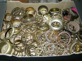 Another huge job lot of fabulous costume jewellery bracelets- almost 4kg