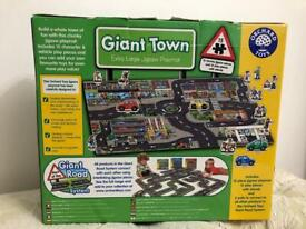 Toy Orchard giant town puzzle, part of giant road system