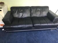 DFS Leather two seater sofa - collection only