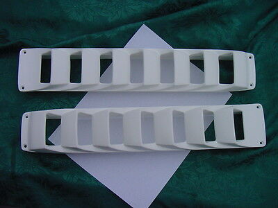 "FOUR WINNS 1980'S BOAT BILGE VENT LOUVER WHITE (offwhite) 17""  PAIR GENUINE NEW"