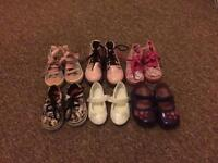 Toddler size 4 shoes vans, next, Peppa and lelli kellies